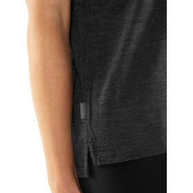 Icebreaker Via SS Scoop Shirt Women black heather